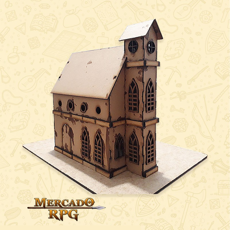 Templo - Cenários MDF - RPG  - Mercado RPG