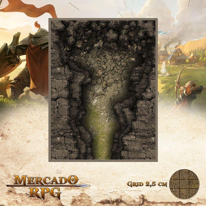 Caverna Bloqueada 15x13 - RPG Battle Grid D&D  - Mercado RPG