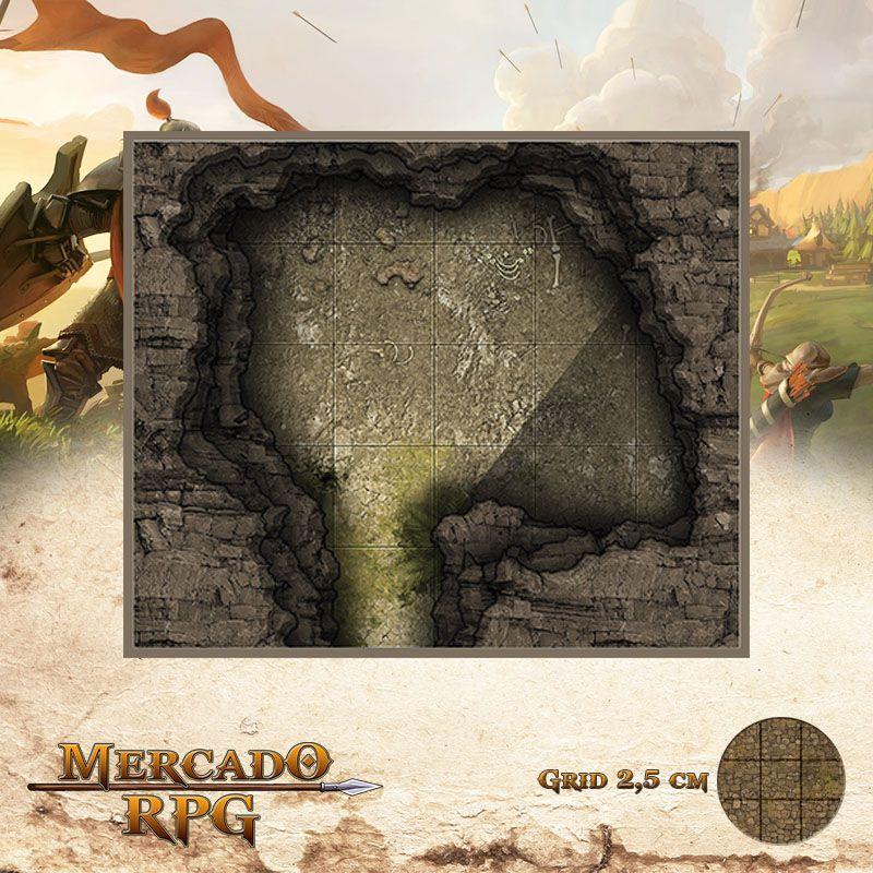 Caverna das Presas 15x13 Grid de Batalha - RPG Battle Grid D&D