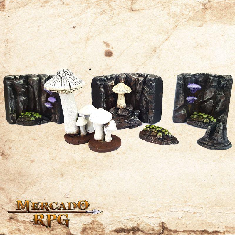 Caverna de Fungos  (Modular)  - Mercado RPG