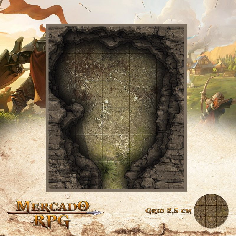 Caverna do Urso 15x13 - RPG Battle Grid D&D