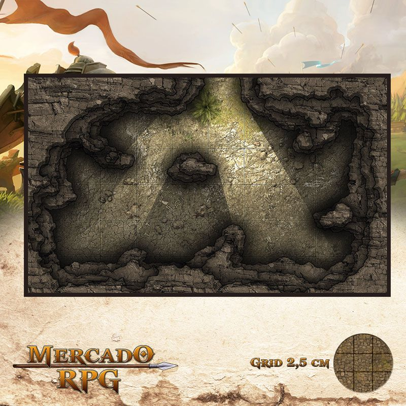 Caverna dos Larápios 25x15 - RPG Battle Grid D&D - Mercado RPG
