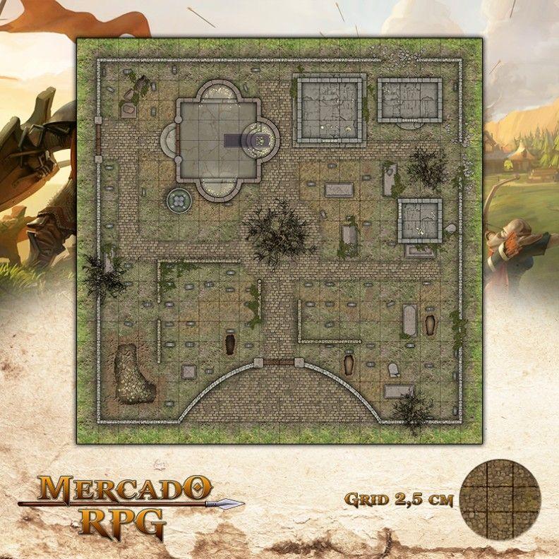 Cemitério - Dia 50x50 - RPG Battle Grid D&D