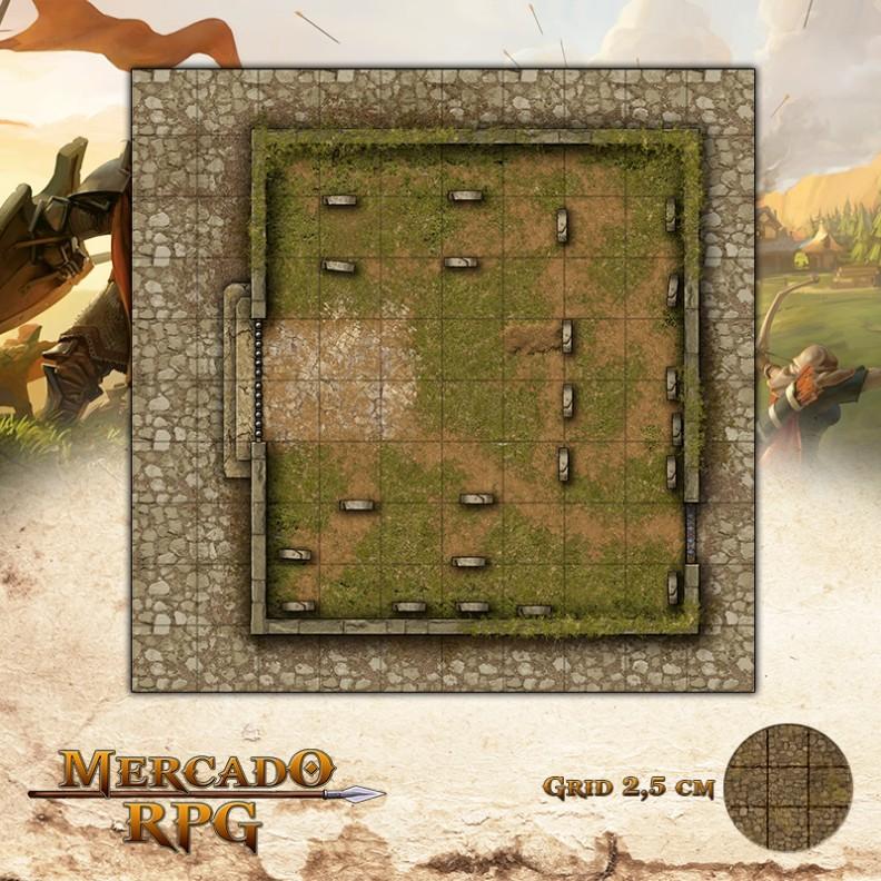 Cemitério Menor 25x25 Grid de Batalha - RPG Battle Grid D&D
