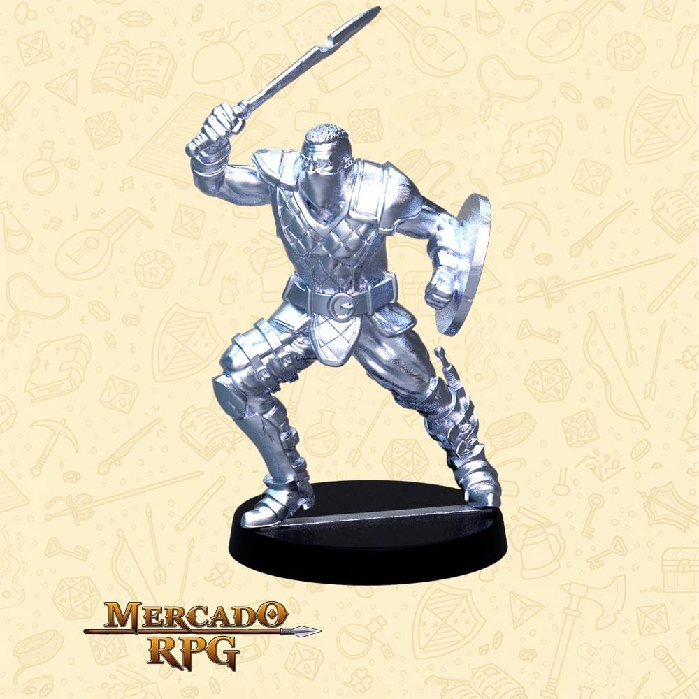 Cicatriz - Basilisco Miniaturas - Metal Branco - Miniaturas para RPG