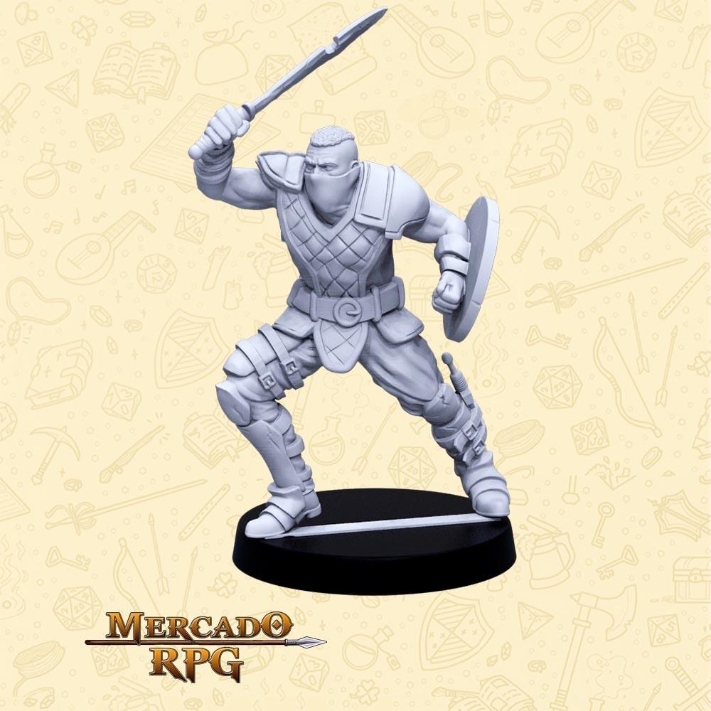 Cicatriz - Basilisco Miniaturas - Resina - Miniaturas para RPG