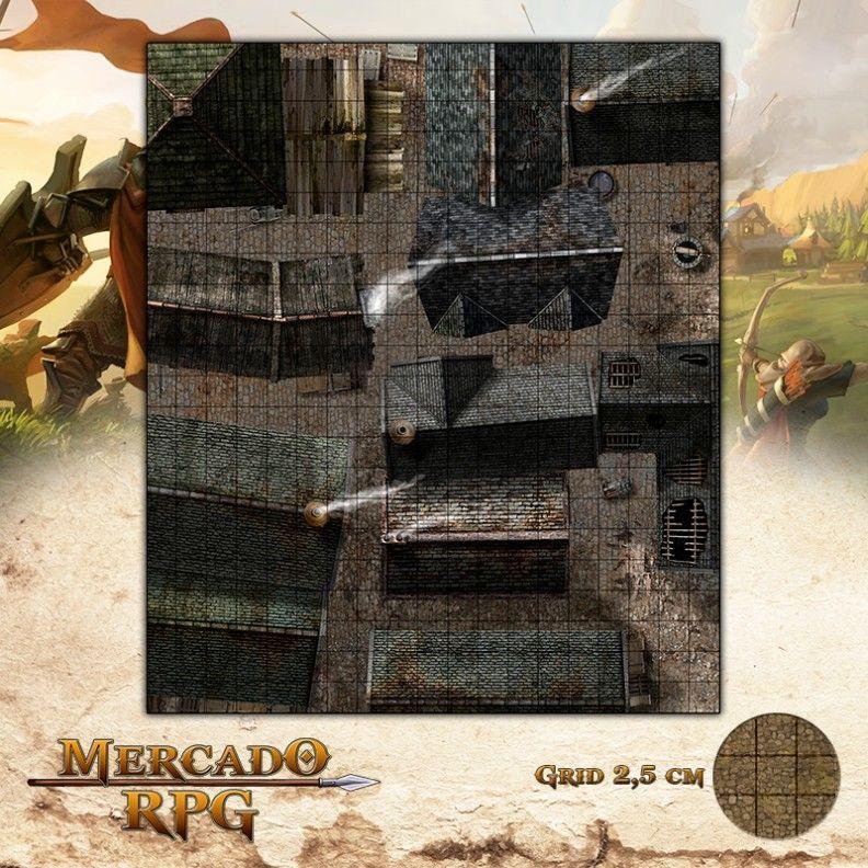 Cidade - Becos 47x55 - RPG Battle Grid D&D