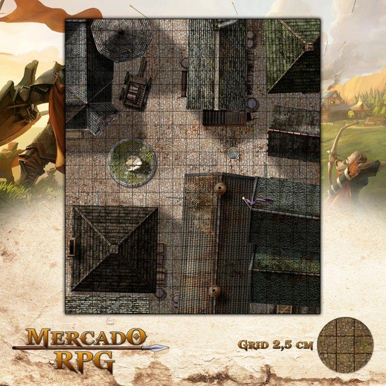 Cidade Centro 47x55 Grid de Batalha - RPG Battle Grid D&D