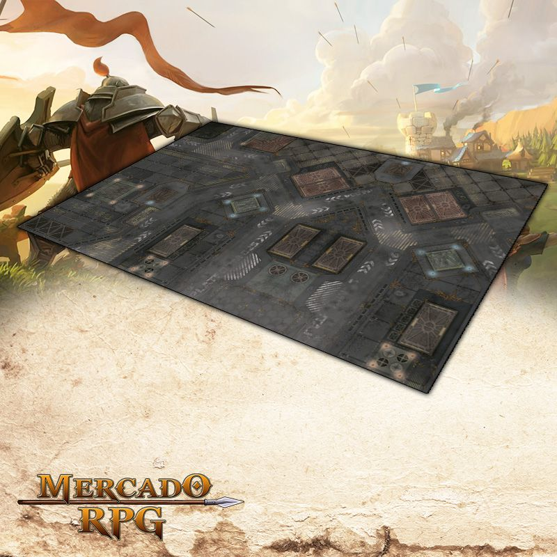Cidade Futurista A (180x120) Grid de Batalha - Battle Grid Wargame - RPG