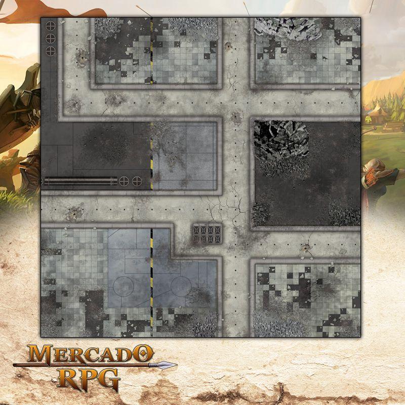 Cidade Futurista B (120x120) - Battle Grid Wargame  - Mercado RPG