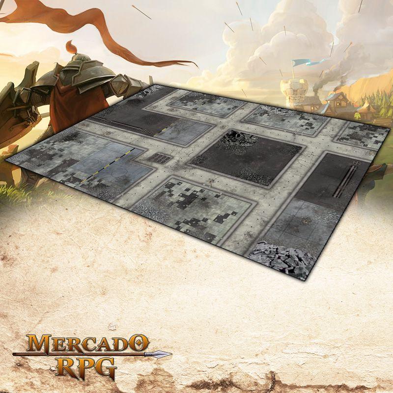 Cidade Futurista B (180x120) Grid de Batalha - Battle Grid Wargame - RPG