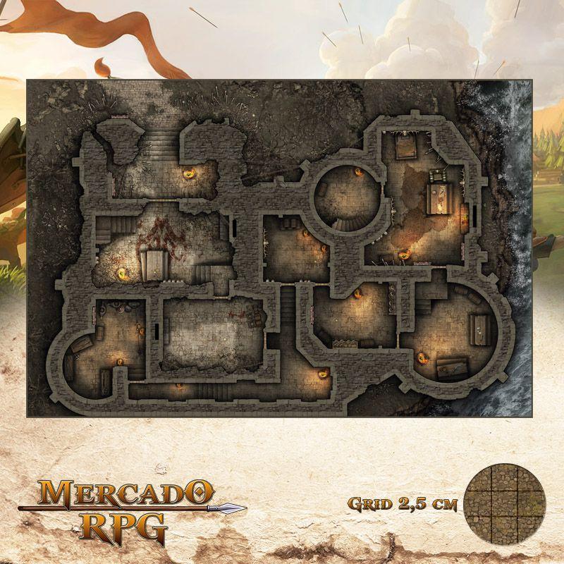 Cidadela do Rei Orc 50x75 - RPG Battle Grid D&D  - Mercado RPG