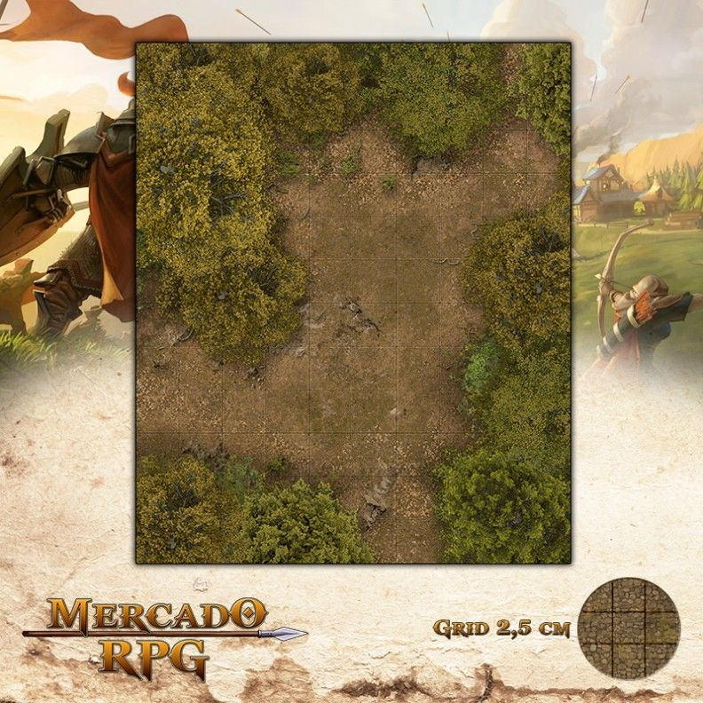 Clareira 25x30 - RPG Battle Grid D&D  - Mercado RPG