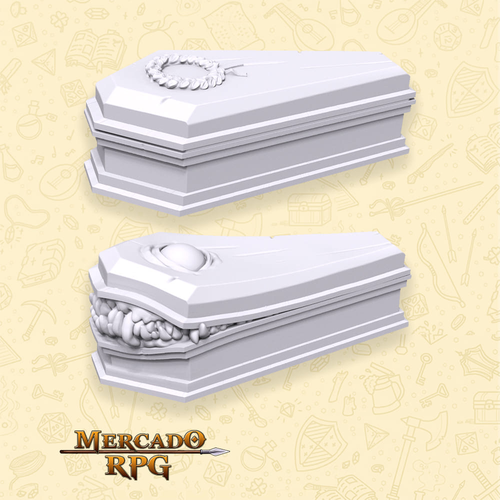 Coffin and Coffin Mimic - Miniatura - RPG