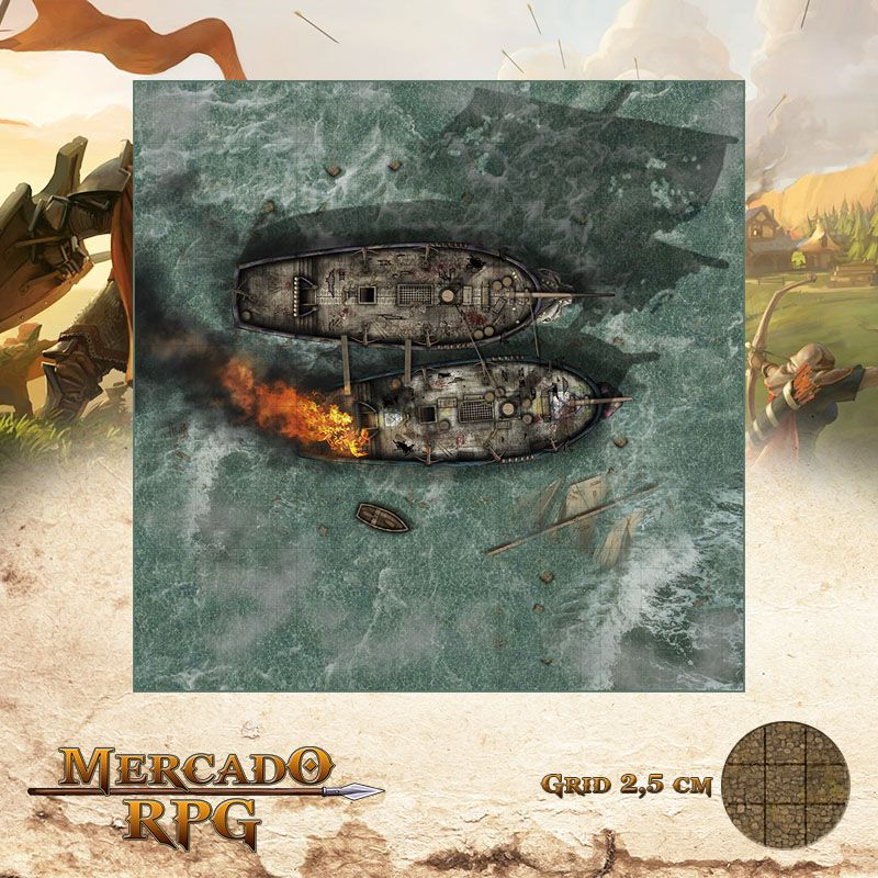 Combate Naval 75x75 - RPG Battle Grid D&D