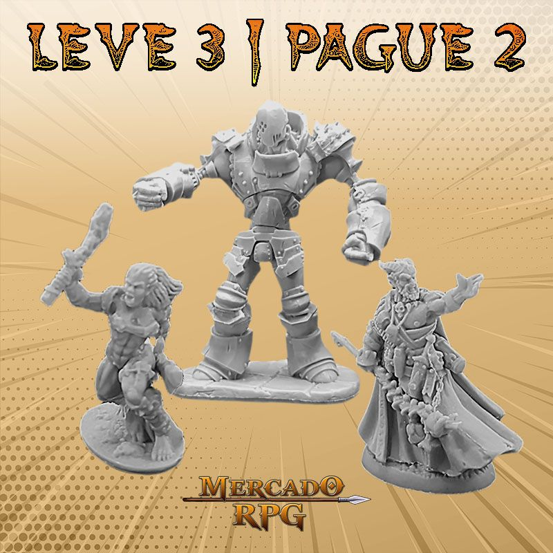 KIT PROMOCIONAL R - LEVE 3 PAGUE 2 - Miniatura RPG  - Mercado RPG