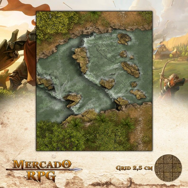 Corredeira da Morte 25x30 - RPG Battle Grid D&D  - Mercado RPG