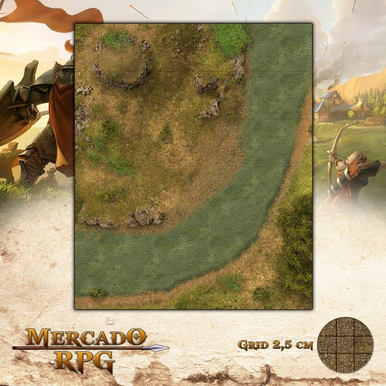 Córrego da Sorte 25x30 - RPG Battle Grid D&D  - Mercado RPG