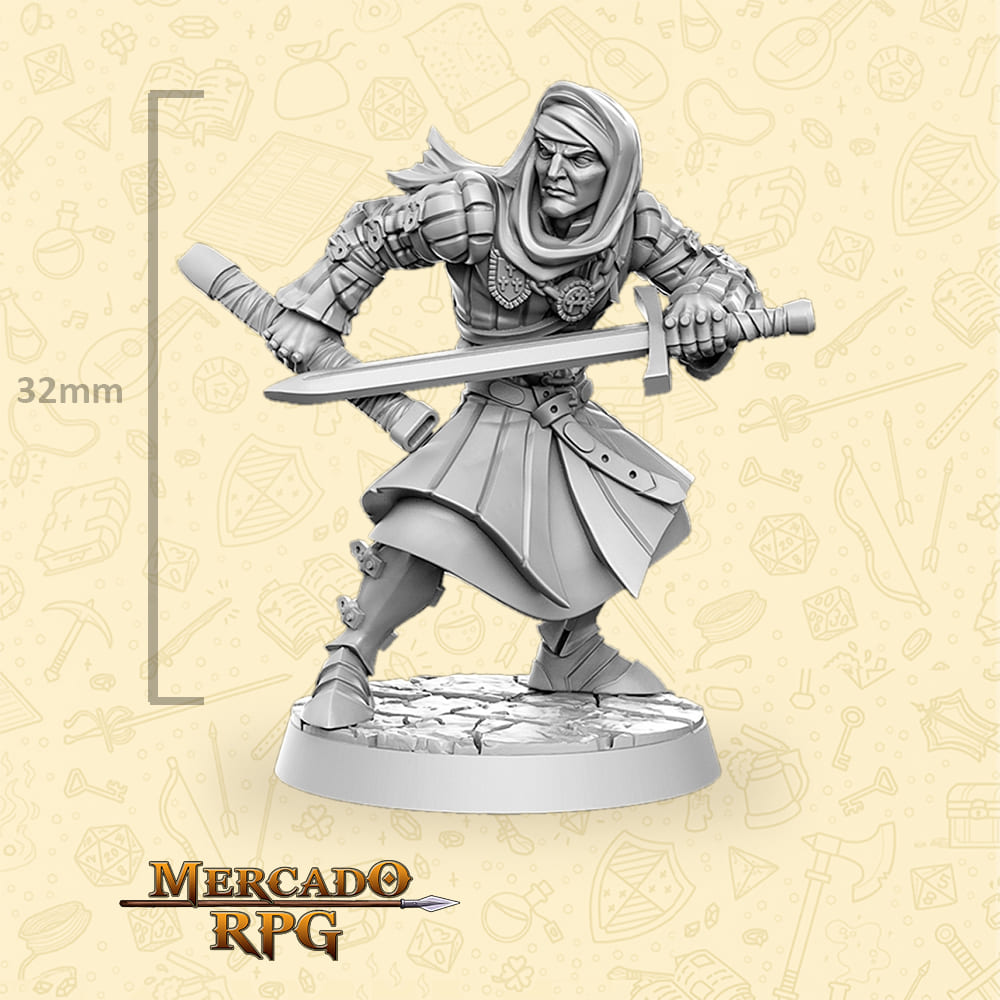 Vernon Roche - The Witcher - Miniatura - RPG