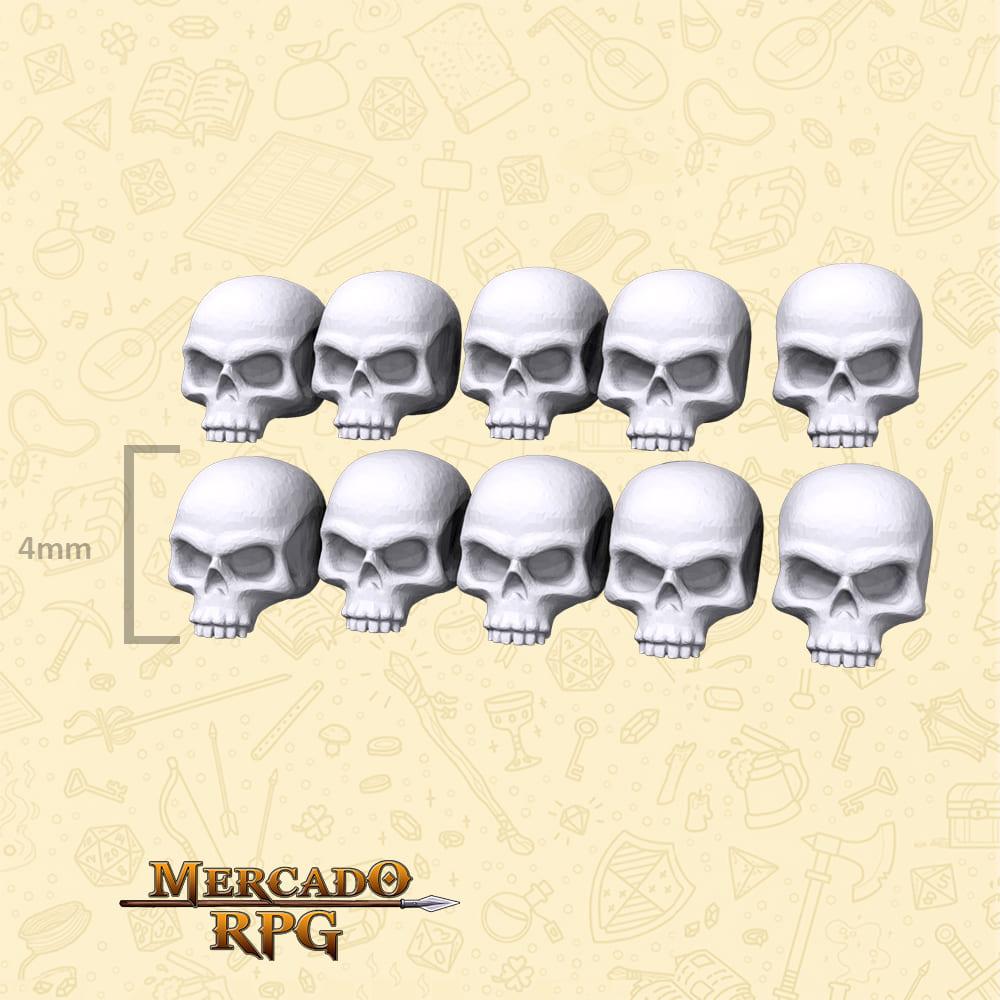 Crânios para Bases e Cenários - Miniatura - RPG