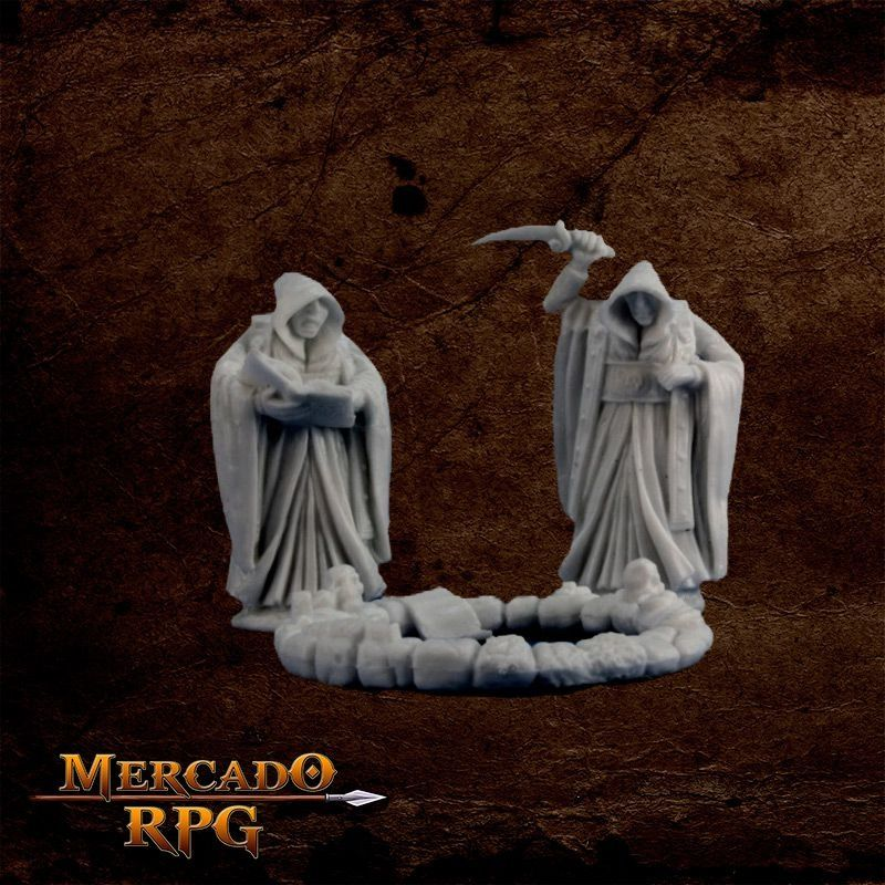 Cultists and Circle (3) - Miniatura RPG  - Mercado RPG