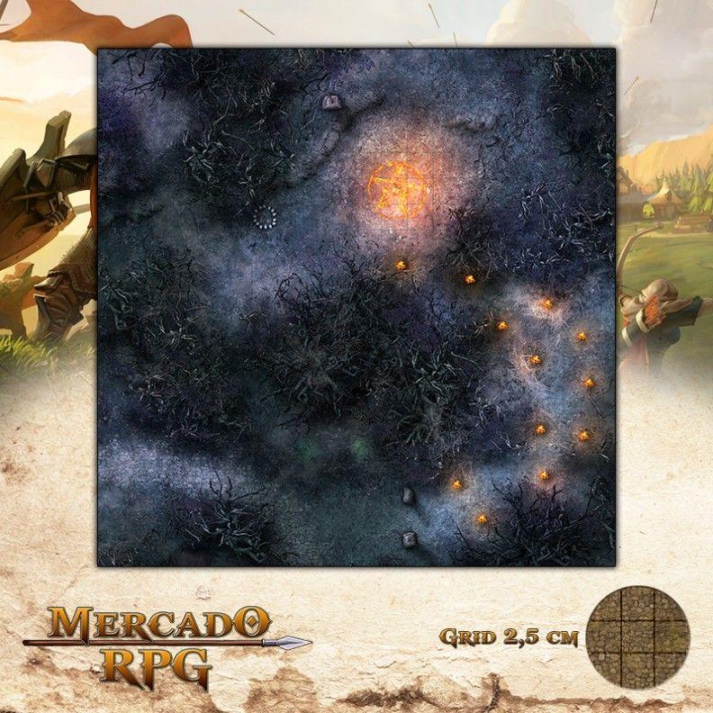 Cultuação na Floresta da Bruxa 50x50 Grid de Batalha - RPG Battle Grid D&D