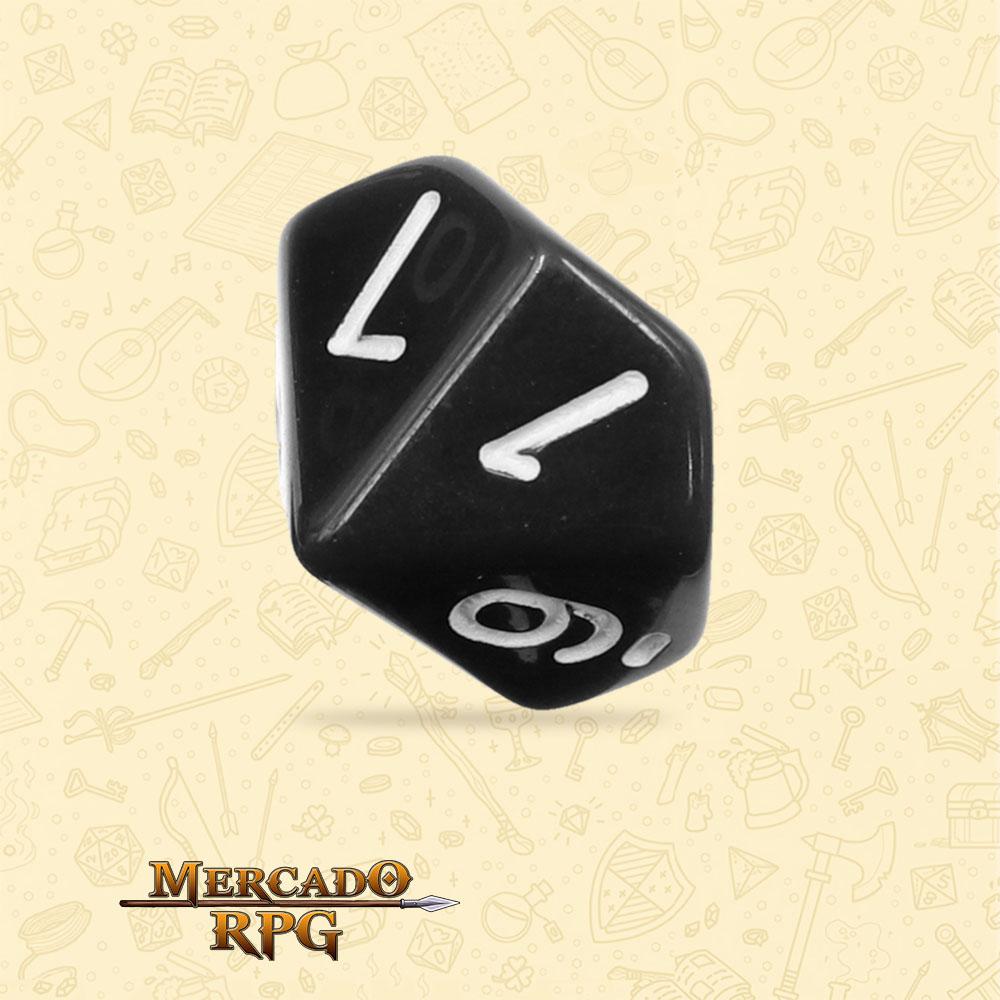 Dado de RPG - D10 Black Opaque Dice - Dez Lados - Mercado RPG