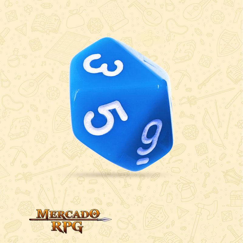 Dado de RPG - D10 Blue Opaque Dice - Dez Lados - Mercado RPG