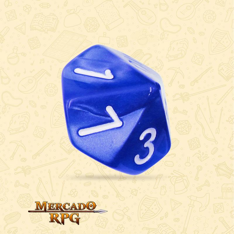 Dado de RPG - D10 Blue Pearl Dice - Dez Lados - Mercado RPG
