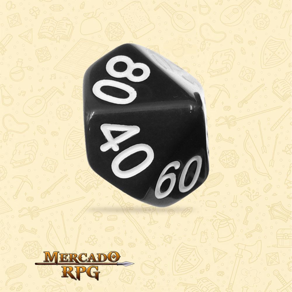 Dado de RPG - D10 Dezena Black Opaque Dice - Dez Lados - Mercado RPG