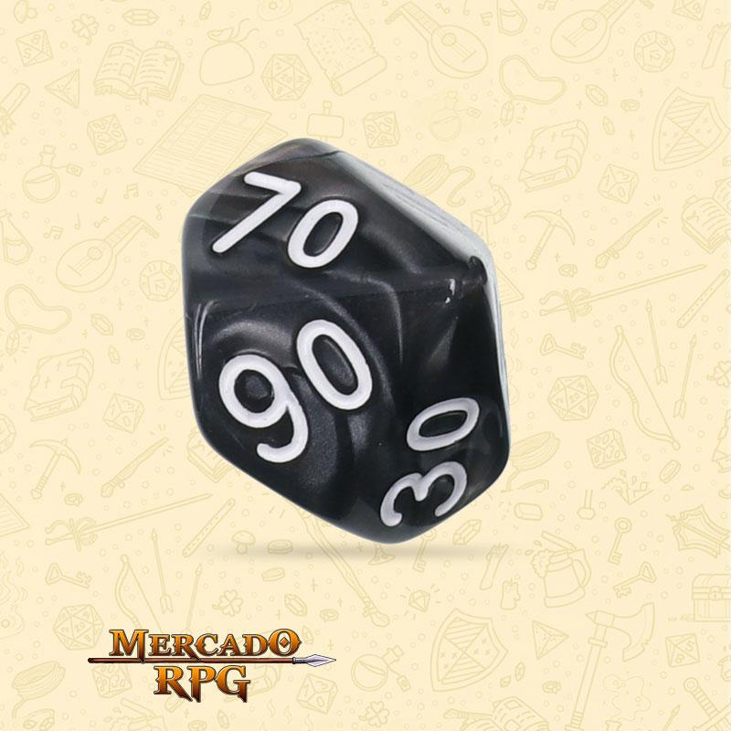 Dado de RPG - D10 Dezena Black Pearl Dice - Dez Lados - Mercado RPG