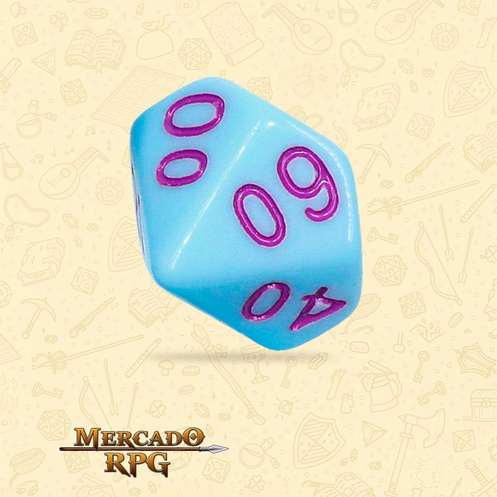 Dado de RPG - D10 Dezena Blue Jay Opaque Dice Purple Font - Dez Lados - Mercado RPG