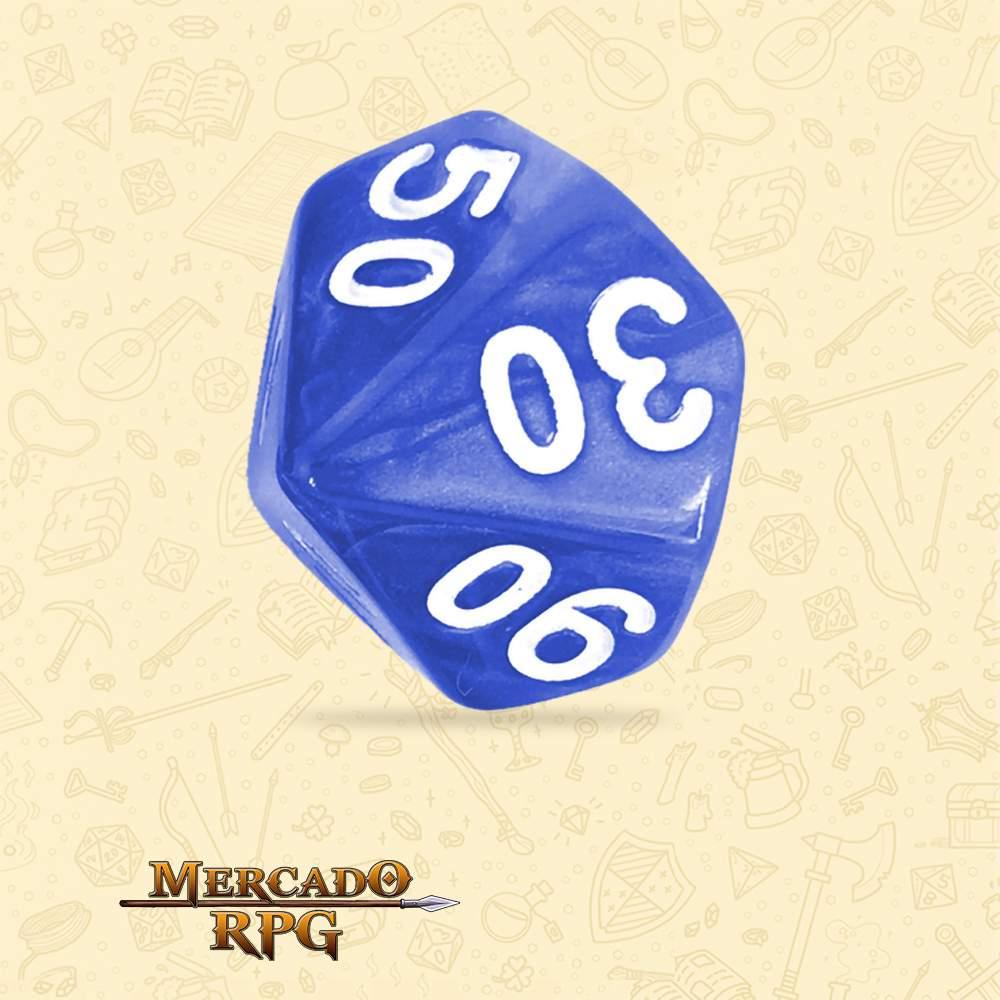 Dado de RPG - D10 Dezena Blue Pearl Dice - Dez Lados - Mercado RPG