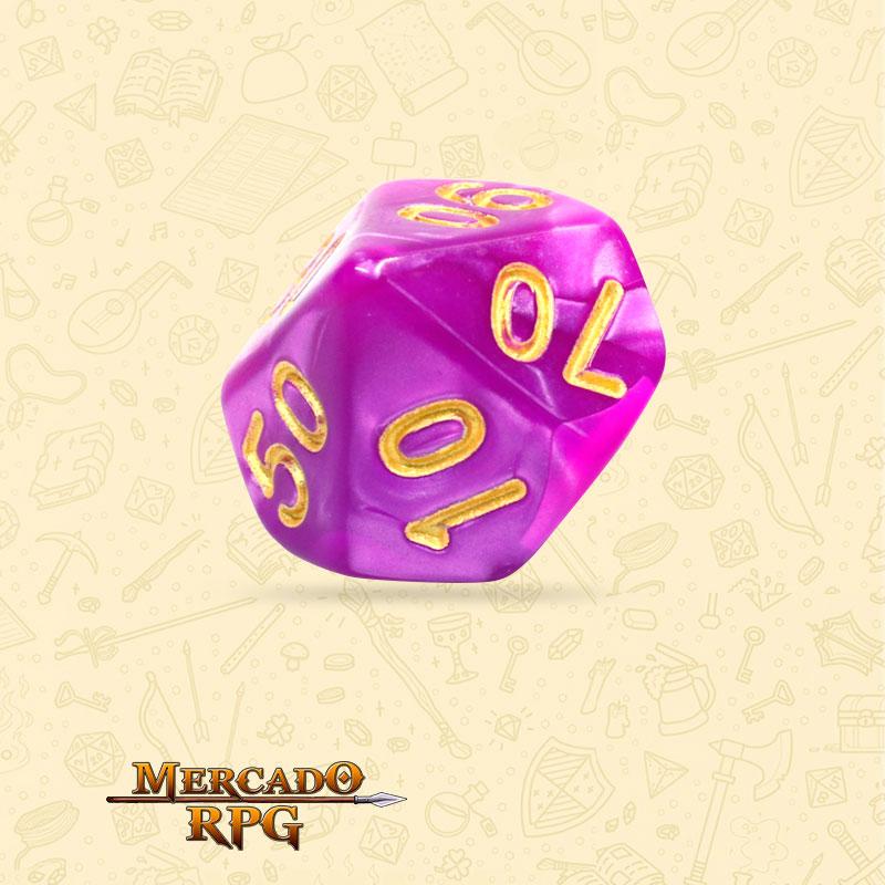 Dado de RPG - D10 Dezena Dark Purple Pearl Dice - Dez Lados - Mercado RPG