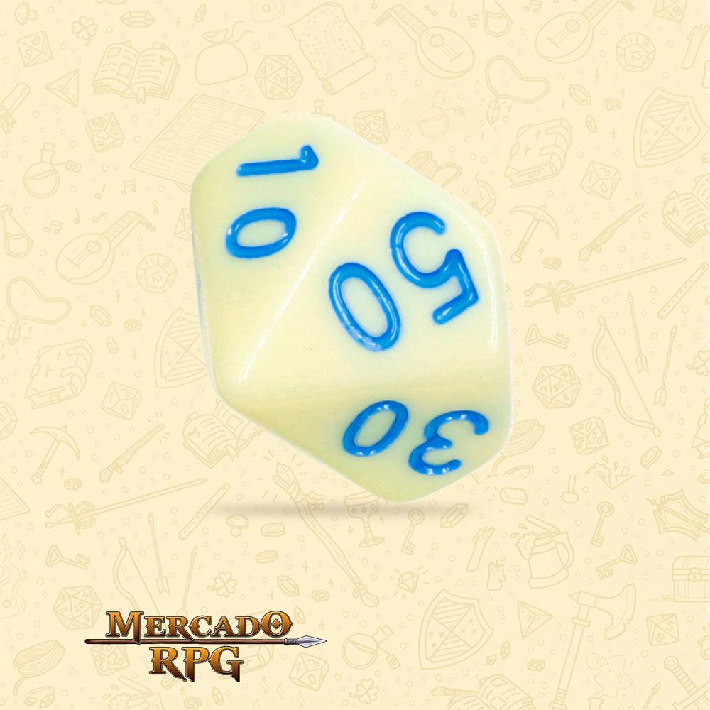 Dado de RPG - D10 Dezena Eggshell Robin Opaque Dice Blue Font - Dez Lados - Mercado RPG