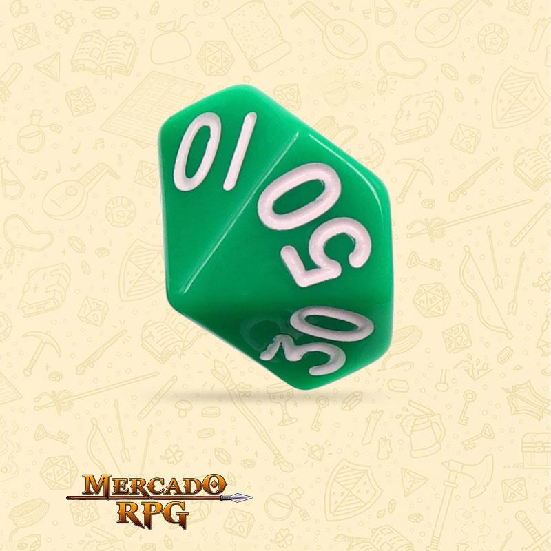 Dado de RPG - D10 Dezena Green Opaque Dice - Dez Lados - Mercado RPG