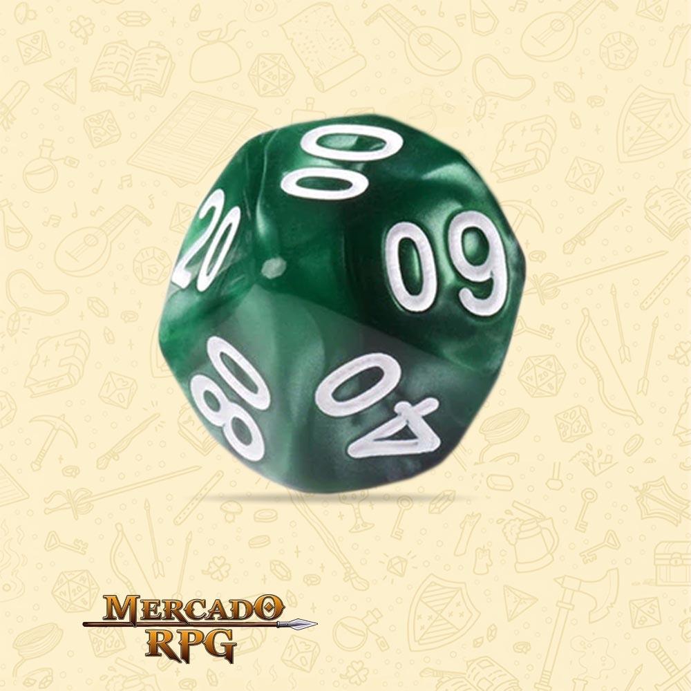 Dado de RPG - D10 Dezena Green Pearl Dice - Dez Lados - Mercado RPG