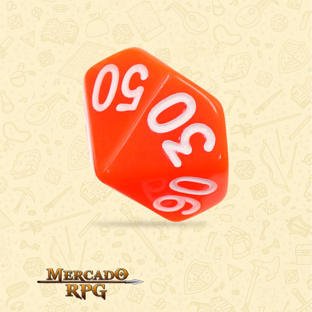 Dado de RPG - D10 Dezena Orange Opaque Dice - Dez Lados - Mercado RPG