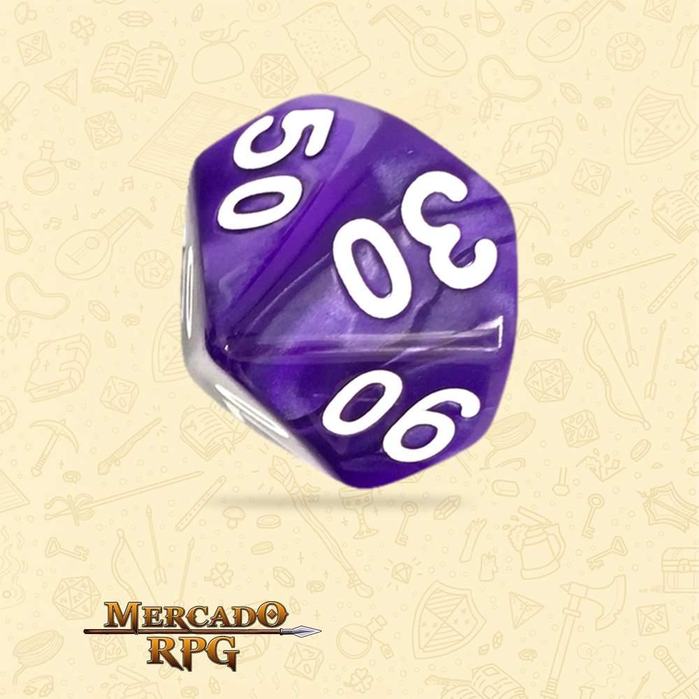 Dado de RPG - D10 Dezena Purple Pearl Dice - Dez Lados - Mercado RPG