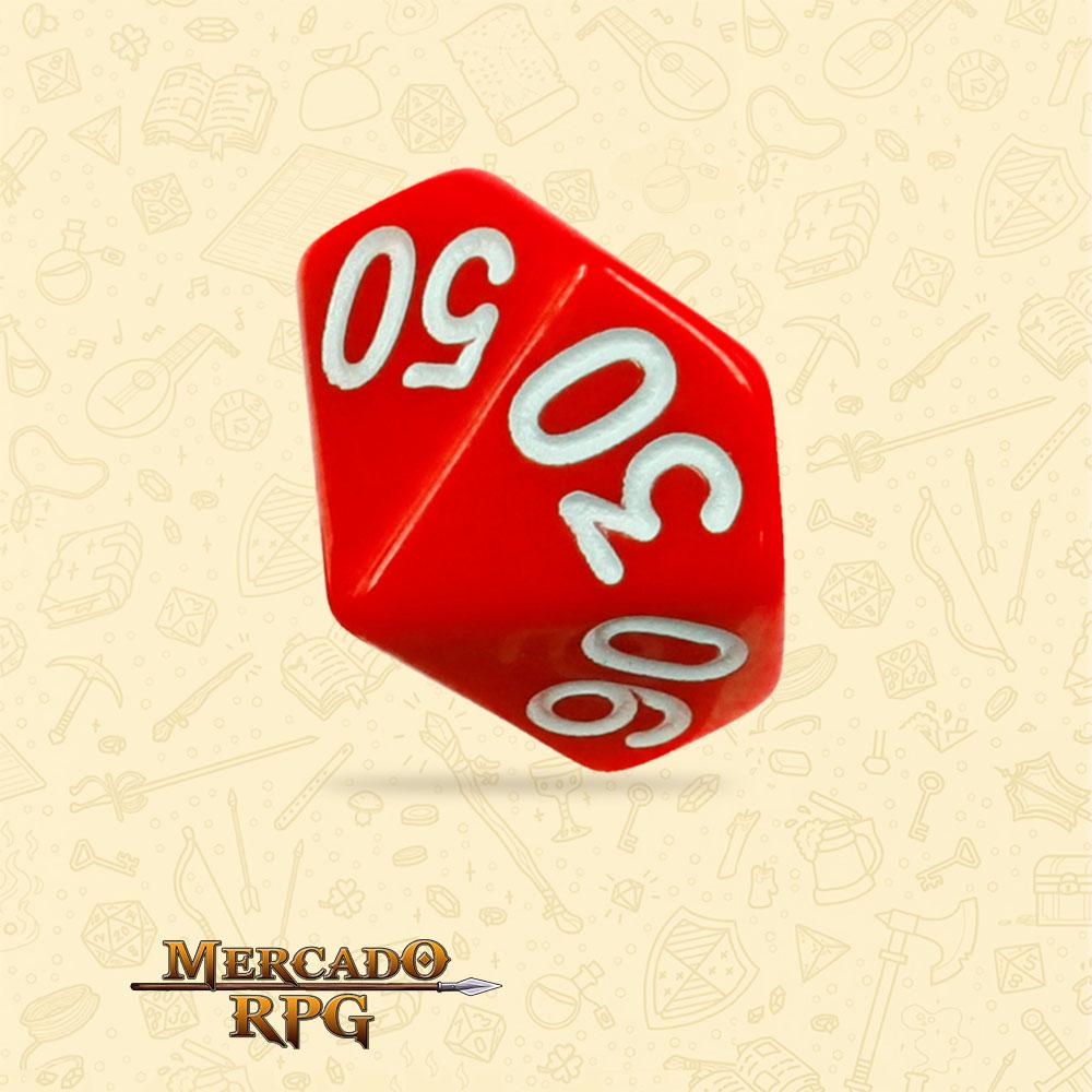 Dado de RPG - D10 Dezena Red Opaque Dice - Dez Lados - Mercado RPG