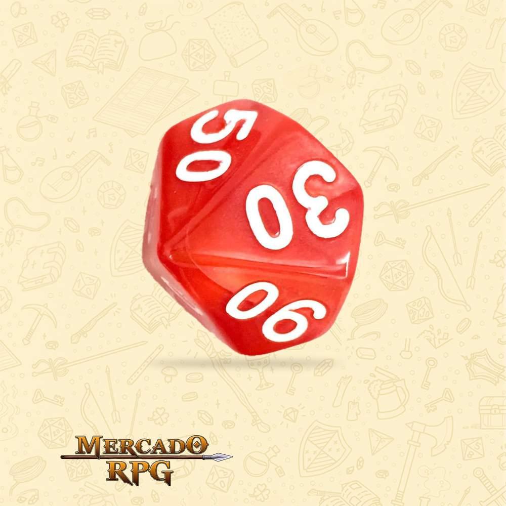 Dado de RPG - D10 Dezena Red Pearl Dice - Dez Lados - Mercado RPG