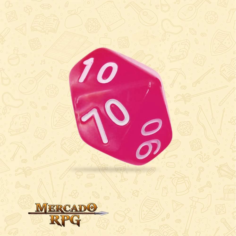 Dado de RPG - D10 Dezena Rose Red Pearl Dice - Dez Lados - Mercado RPG