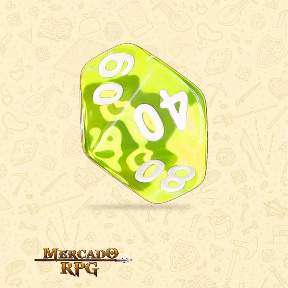 Dado de RPG - D10 Dezena Sun Gems Transparent Dice - Dez Lados - Mercado RPG