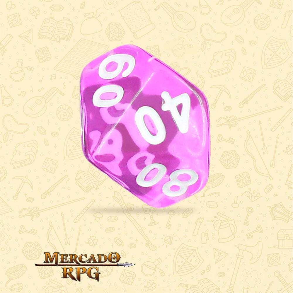 Dado de RPG - D10 Dezena Tyrian Gems Transparent Dice - Dez Lados - Mercado RPG