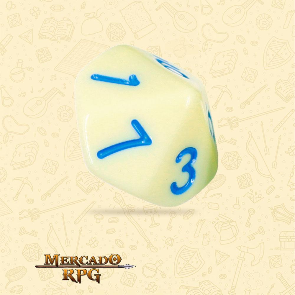 Dado de RPG - D10 Eggshell Robin Opaque Dice Blue Font - Dez Lados - Mercado RPG