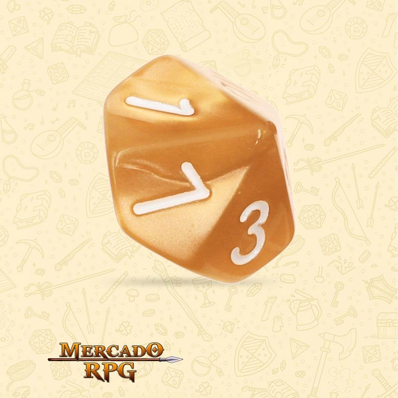 Dado de RPG - D10  Golden Pearl Dice - Dez Lados - Mercado RPG
