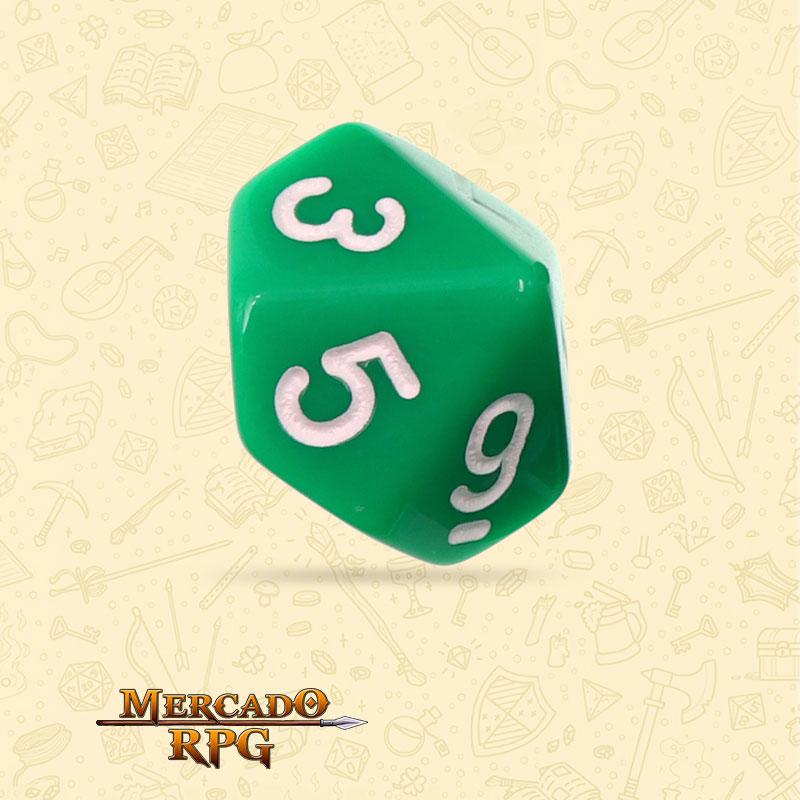 Dado de RPG - D10 Green Opaque Dice - Dez Lados - Mercado RPG