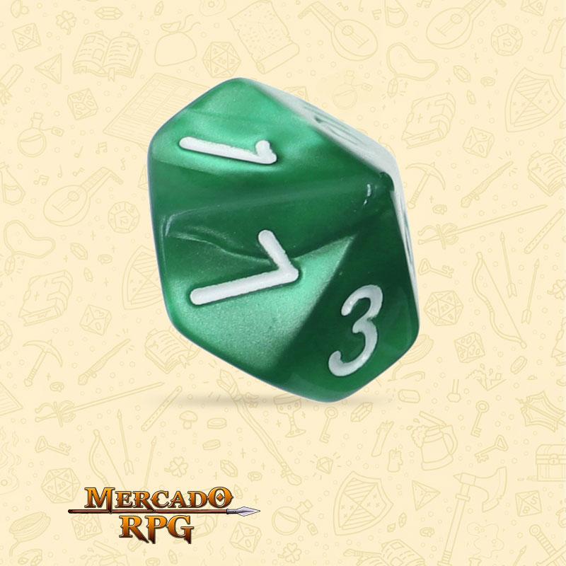 Dado de RPG - D10 Green Pearl Dice - Dez Lados - Mercado RPG