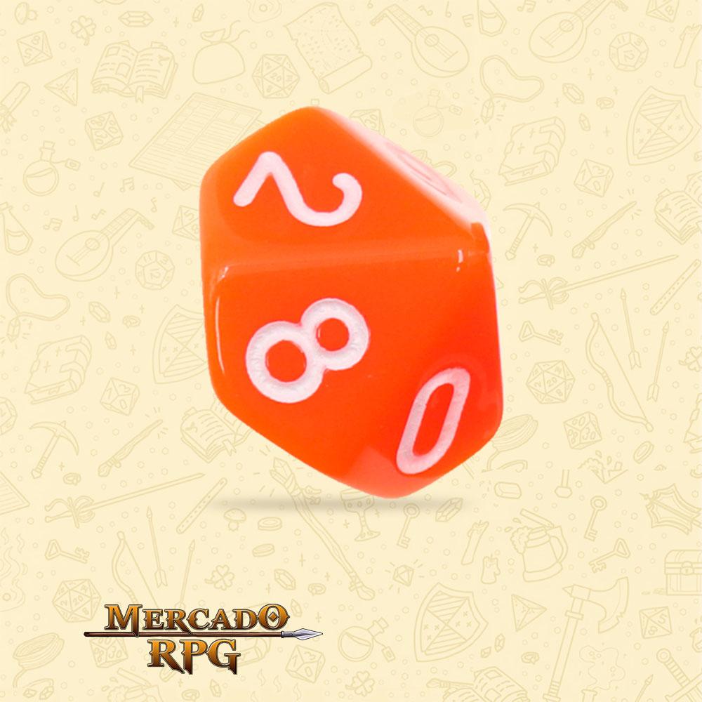 Dado de RPG - D10 Orange Opaque Dice - Dez Lados - Mercado RPG