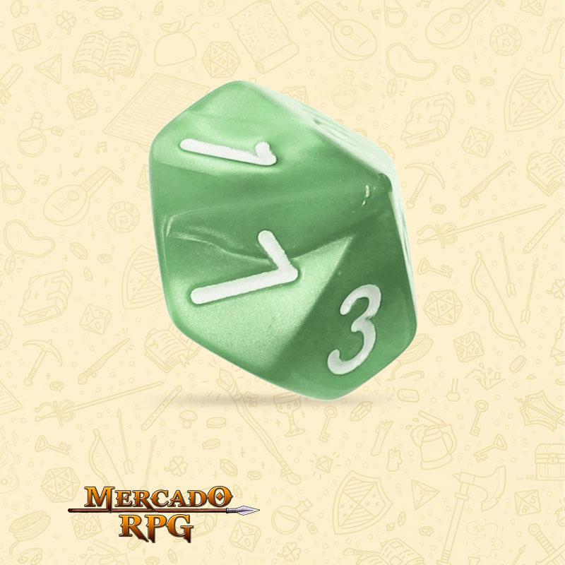 Dado de RPG - D10  Pale Green Pearl Dice - Dez Lados - Mercado RPG